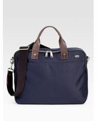 Jack Spade | Blue Leather-Trimmed Nylon Briefcase for Men | Lyst