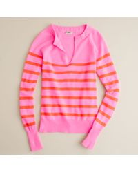 J.Crew | Pink Cashmere Candy-stripe Sweater | Lyst