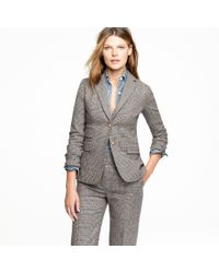 J.Crew | Gray Hacking Jacket in Wool Check | Lyst