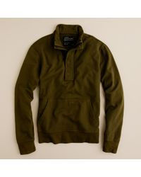 J.Crew | Green Utility Fleece Half-zip Henley for Men | Lyst