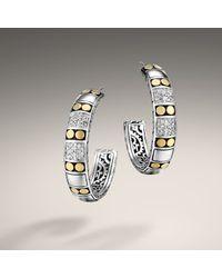 John Hardy - Metallic Medium Hoop Earrings - Lyst
