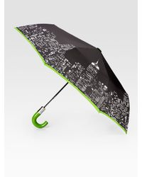 kate spade new york | Black City Lights Automatic Umbrella | Lyst