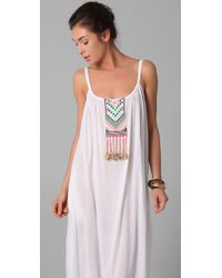Mara Hoffman - White Embroidered Peasant Dress - Lyst
