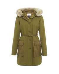 Marc By Marc Jacobs | Green Fur Trim Parka | Lyst