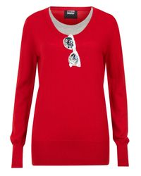Markus Lupfer | Red Sequin Sunglasses Motif Jumper | Lyst