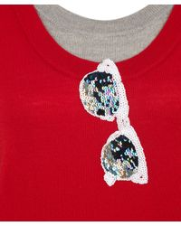 Markus Lupfer | Red Sequin Sunglasses Motif Jumper | Lyst