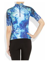 McQ   Blue Printed Stretchgeorgette Tunic   Lyst