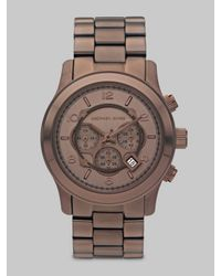 Michael Kors | Brown Chocolate Ion-plated Stainless Steel Chronograph Watch | Lyst