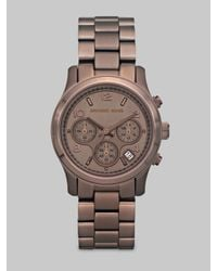 Michael Kors | Brown Chocolate Stainless Steel Chronograph Watch | Lyst