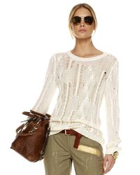 Michael Kors - White Fisherman Cable Knit Sweater - Lyst