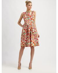 MILLY   Multicolor Lettie Frock Dress in Poppy Field Print   Lyst