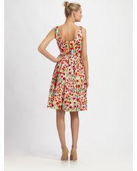 MILLY | Multicolor Lettie Frock Dress in Poppy Field Print | Lyst
