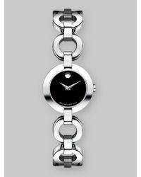 Movado | Black Belamoda Stainless Steel Bracelet Watch | Lyst