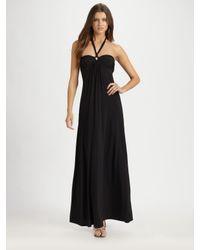 Natori | Black Bandeau Halter Maxi Dress | Lyst