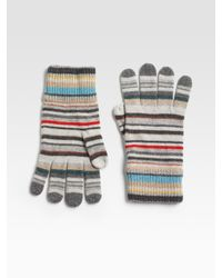 Paul Smith Multicolor Striped Gloves for men
