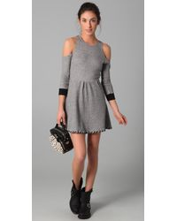 Pencey | Gray Open Shoulder Dress | Lyst