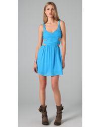 Pencey | Blue Cutout Dress | Lyst