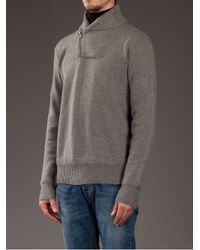 Polo Ralph Lauren - Gray Shawl Collar Sweater for Men - Lyst