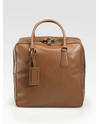 Prada | Brown Saffiano Travel Bag for Men | Lyst