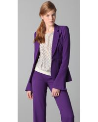 Rachel Zoe | Purple Hutton Tux Jacket | Lyst