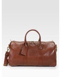 Ralph Lauren | Orange Leather Duffle for Men | Lyst