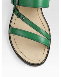 Reed Krakoff - Green Flat Sandals - Lyst