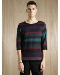 Sasquatchfabrix | Multicolor Mens Mohair Multi Border Sweater for Men | Lyst