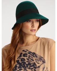 Stella McCartney - Green Wool Hat - Lyst