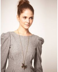 Ted Baker - Black Isolde Carousel Pendant Necklace - Lyst
