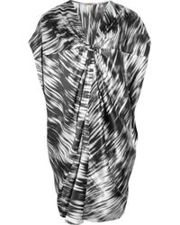 Thurley | Black Printed Silk-satin Tunic Dress | Lyst