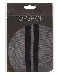 TOPSHOP - Black Sheer Side Stripe Tights - Lyst