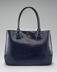 Tory Burch | Blue Robinson East-west Tote | Lyst