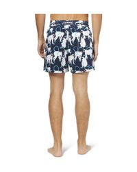 Vilebrequin | Blue Moorea Monkey Print Swim Shorts for Men | Lyst