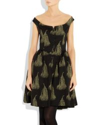Vivienne Westwood Anglomania - Black Pannier Printed Cotton Dress - Lyst