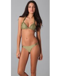 Zimmermann | Green Charmer Looped Triangle Bikini | Lyst