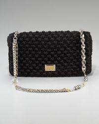 Dolce & Gabbana | Black Miss Charles Crochet Bag | Lyst