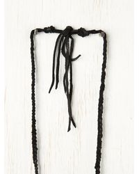 Free People - Black Rolling Thunder Turquoise Necklace - Lyst