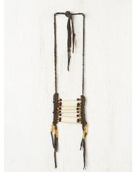 Free People - Gray Spotted Eagle Necklace - Lyst