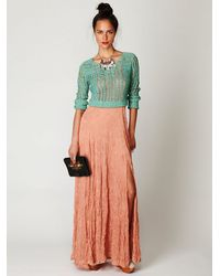 Free People - Green Caldra Layer Pullover - Lyst