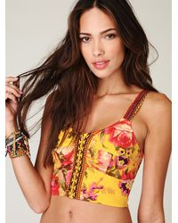 Free People   Multicolor Fp One Reflected Florals Crop Top   Lyst