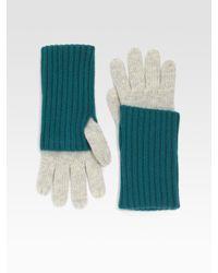 Grandoe - Blue Cashmere Knit Touchscreen Compatible Glove - Lyst
