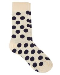 Happy Socks | Natural Large Spot Socks for Men | Lyst