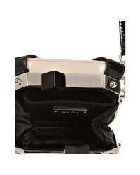 Miu Miu - Pink Patent Lambskin Camera Case Kisslock Handbag - Lyst