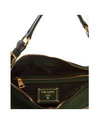 Prada - Green Deerskin Buckle Strap Shoulder Bag - Lyst