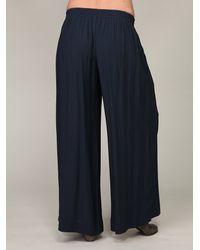 Free People - Blue Drapey Wideleg Pant - Lyst