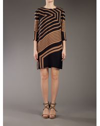 Stella McCartney Brown Geometric Print Dress