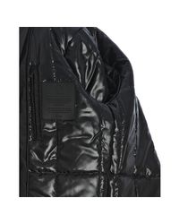T-Tech By Tumi - Black Water-resistant Quilted Bib Ballistic Oxford Hooded Coat for Men - Lyst