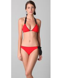 3.1 Phillip Lim - Red Side Bow Tie Bikini Bottoms - Lyst