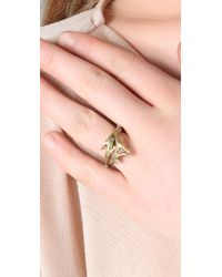 A.L.C. | Metallic Double Antler Ring | Lyst