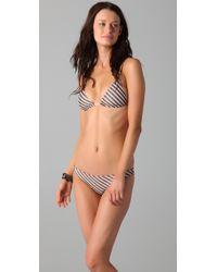 Cali Dreaming | Black Two-piece Striped Bikini | Lyst